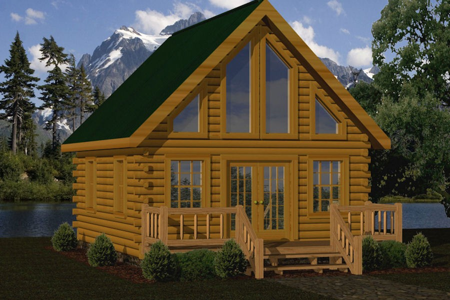 bear view - Tiny Log Cabin Kits