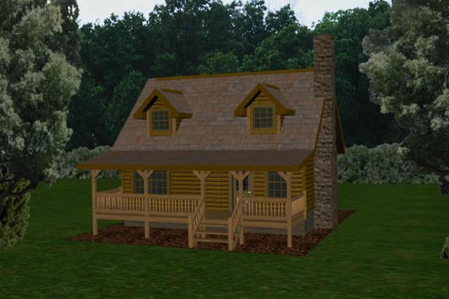 Awesome Square Log Cabins #3: Chestnut