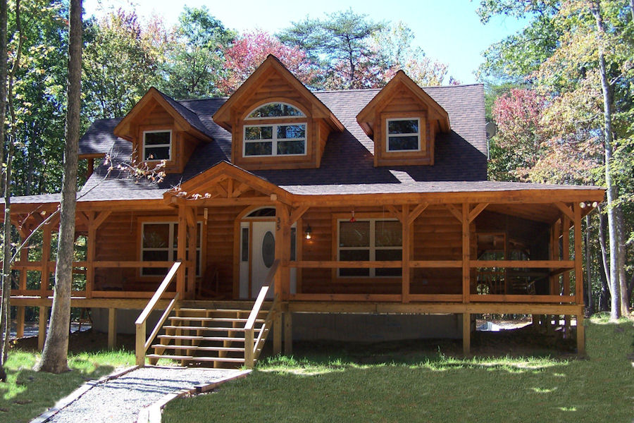 Exterior log home cabin pictures battle creek log homes for Country log cabins
