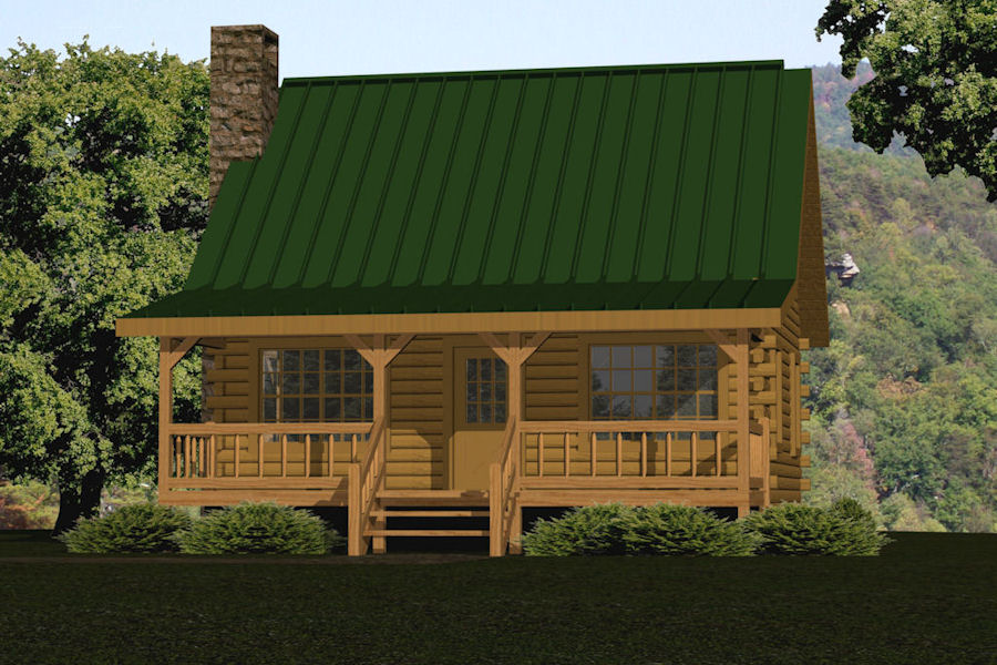 Small Log Cabin Kits & Floor Plans: Cabin Series From Battle Creek Tn