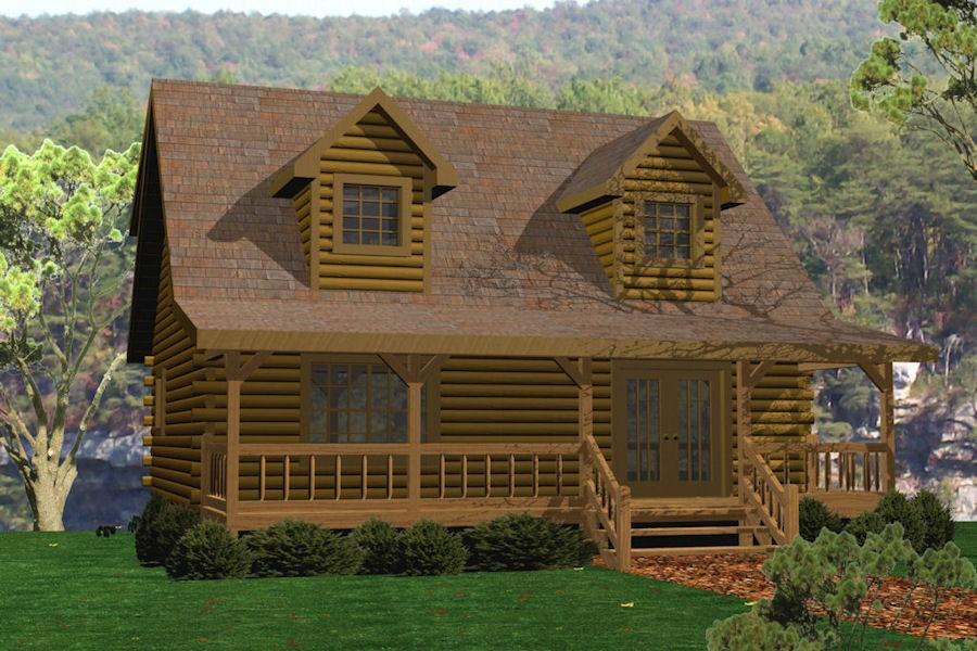 Hemlock battle creek log homes for Log cabin kits 2000 sq ft