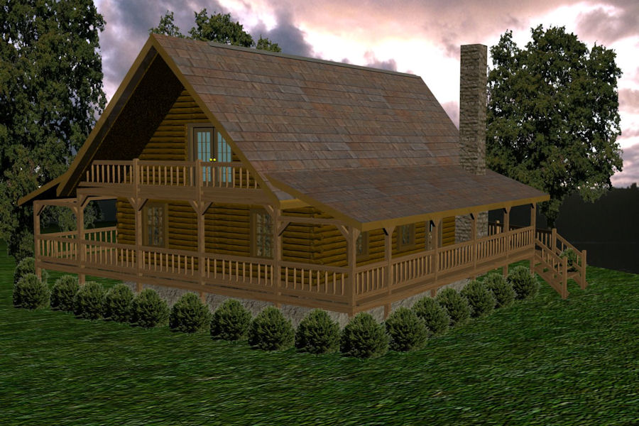 Mountain View Battle Creek Log Homes