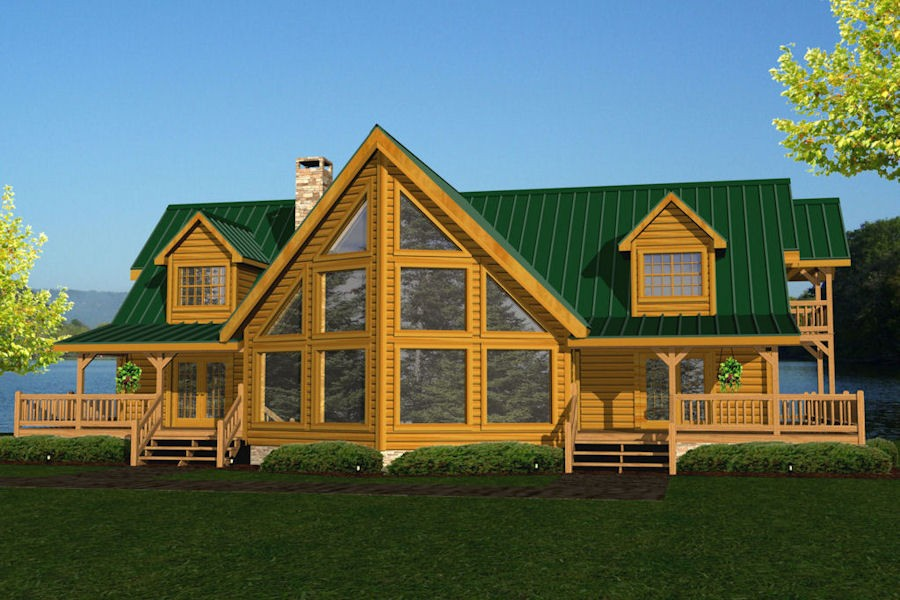 Riverside battle creek log homes for Riverside house plans