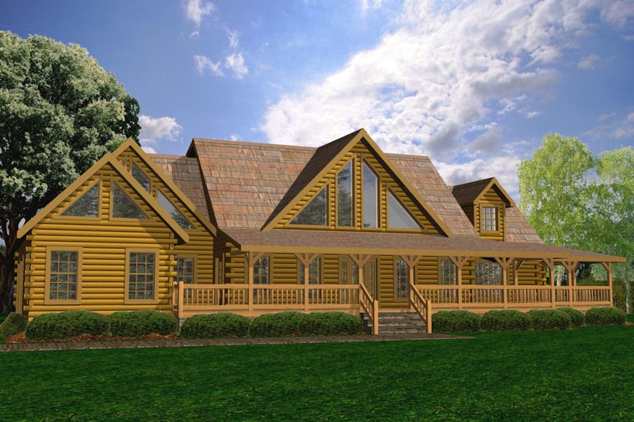 Sweetwater battle creek log homes for 5 bedroom log home plans