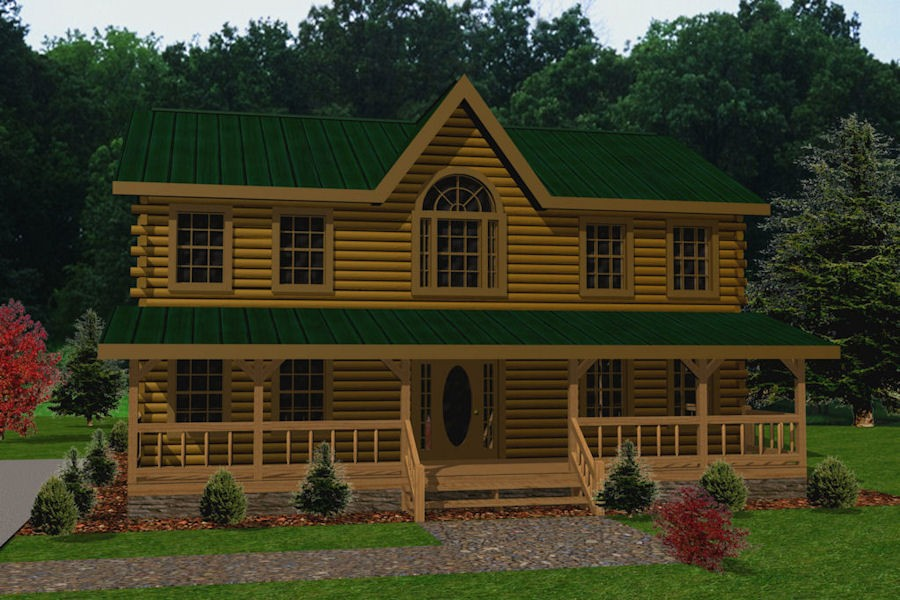 Tidewater battle creek log homes for Tidewater homes