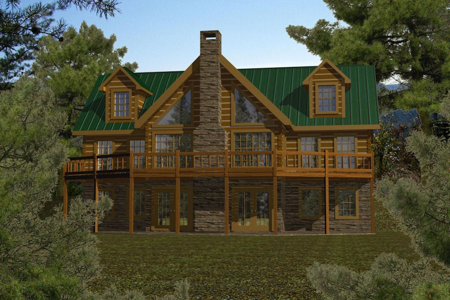 Timber creek battle creek log homes for Log cabin kits 2000 sq ft