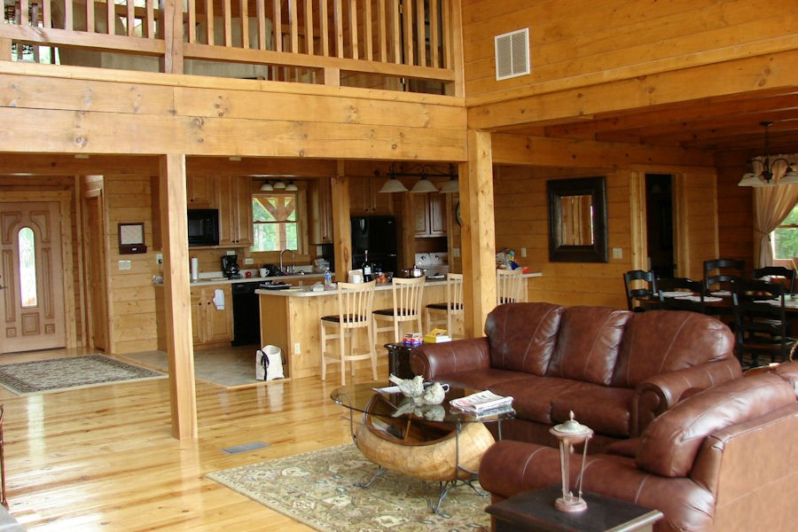 log home interiors interior log home amp cabin pictures battle creek log homes 14039