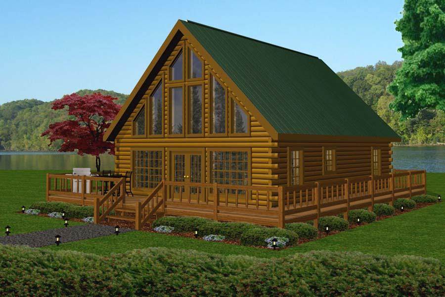 Aspen battle creek log homes for Log cabin kits 2000 sq ft