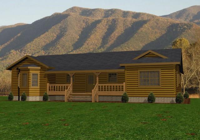 BEAR-HOLLOW_FRONT-640x450 Single Floor Plans Log Home on log cabin homes floor plans, simple one story floor plans, single floor cabins, single story house plans, single level log homes,