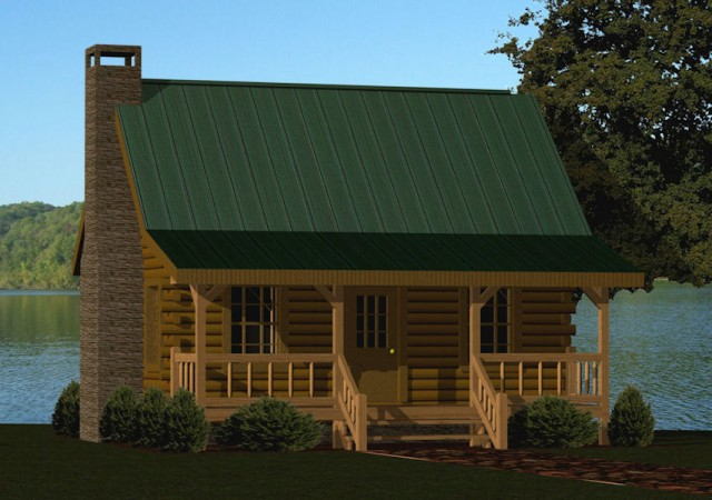 Small log cabin kits floor plans cabin series from for Cottage builders in michigan