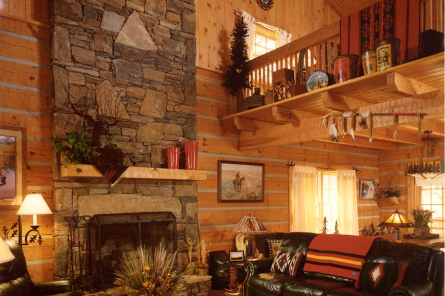 Interior Log Home & Cabin Pictures: Battle Creek Log Homes ...