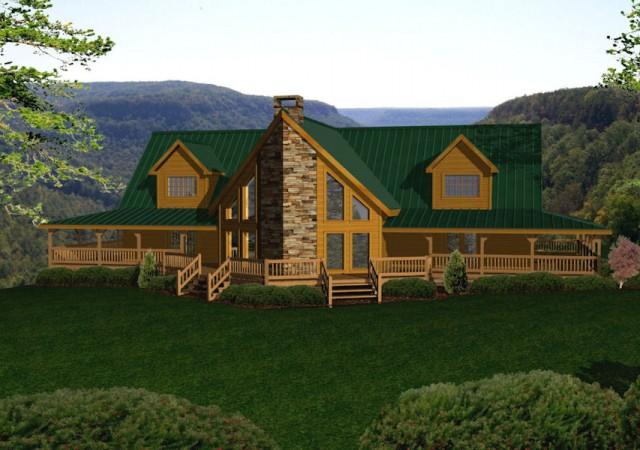 Large Log Homes Amp Cabins Kits Amp Floor Plans Battle Creek