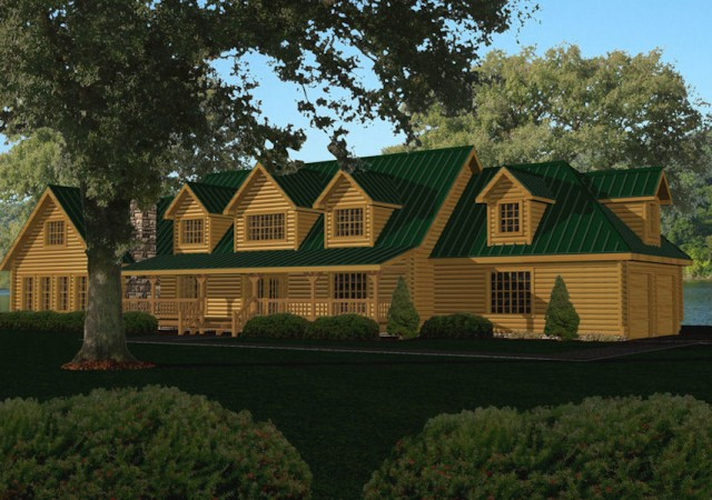 Large Log Home Floor Plans | Large Log Homes Cabins Kits Floor Plans Battle Creek Log Homes