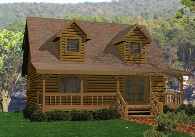 Log cabins small log homes battle creek log homes tn for 1000 sq ft log cabin