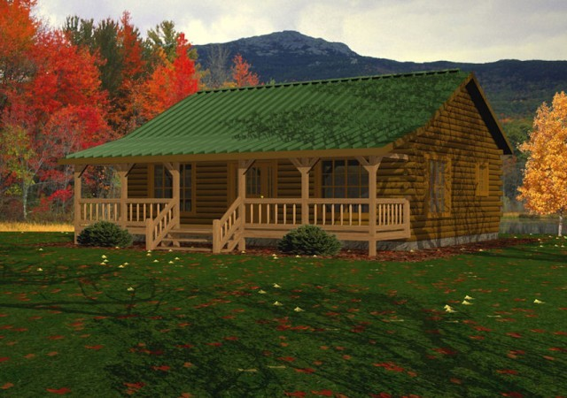 Single Story Log Homes Floor Plans Amp Kits Battle Creek