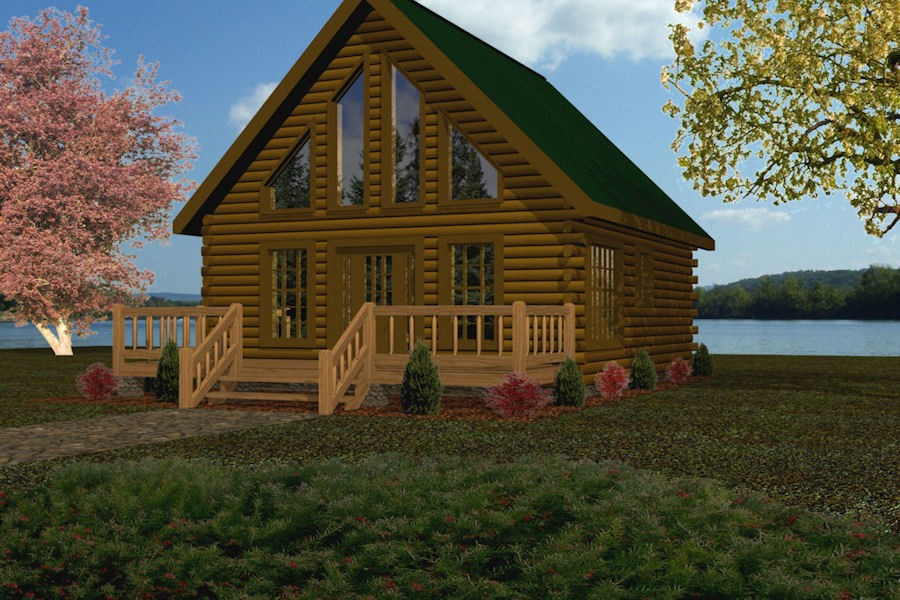 Small Log Cabin Kit Homes Small Log Cabin Floor Plans: Battle Creek Log Homes